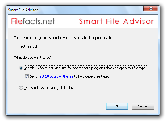 Smart File Advisor - file, extensions, pdf, rar, zip, mds, mdf, iso, doc, xls, wmv, docx, mp4, programs, free, software, checksum, hash, md5, sha1, sha-1, crc32, crc, association, problems - Smart File Advisor will help you find appropriate programs to open your files